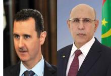 صورة للمرة الأولى.. تهنئة من رئيس موريتانيا الجديد إلى رأس النظام السوري