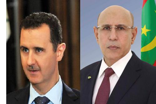 16 04 2020 s0000 - للمرة الأولى.. تهنئة من رئيس موريتانيا الجديد إلى رأس النظام السوري