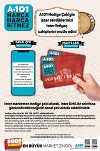 43fabca4 950d 47ef 9b09 9f5fff44b063 200x300 - ماركت A101 في تركيا يعلن عن كروت هدايا بقيمة: 50/100/150/200 ليرة تركية