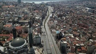 صورة السبت،حظر التجوال أربعة أيام في 15 ولاية تركية، ضمن إجراءات مكافحة فيروس كورونا.
