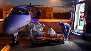 صورة طائرة إسعاف تركية تجلب مواطنا مصابا بكورونا من السودان.