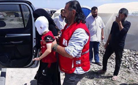تركيا تجلب طفل سوري من ريف حلب لمعالجة حروقه