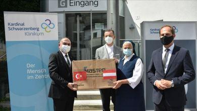 صورة تركيا تقدم 20 ألف كمامةدعم لمستشفى في  النمسا