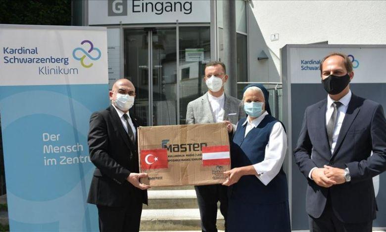 thumbs b c 9735cc65ea3b542631fbe90d2f708fce - تركيا تقدم 20 ألف كمامةدعم لمستشفى في  النمسا