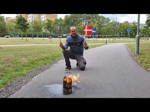 hqdefault - المسلمون في السويد ينتفضون إثر قيام متطـ.ـرفين بحـ.ـرق القرآن الكريم أمام أحد المساجد في مالمو (فيديو)