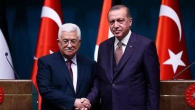صورة عباس يطلب من أردوغان دعم المصالحة والانتخابات الفلسطينية