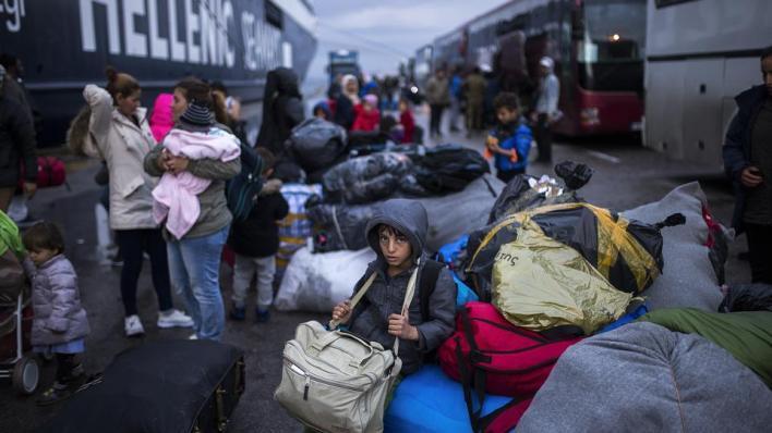 قبل حريق مخيم موريا كان أكثر من 33 ألف مهاجر يعيشون في الجزر اليونانية ببحر إيجه، خصوصاً ليسبوس وساموس وخيوس - صورة أرشيفية