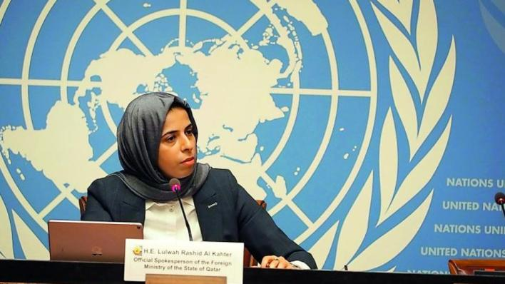 المتحدثة باسم وزارة الخارجية القطرية لولوة الخاطر قالت إنجوهر الصراع يتعلّق بالظروف القاسية التي يعيش الفلسطينيون في ظلّها، كشعب من دون بلد يعيش تحت الاحتلال
