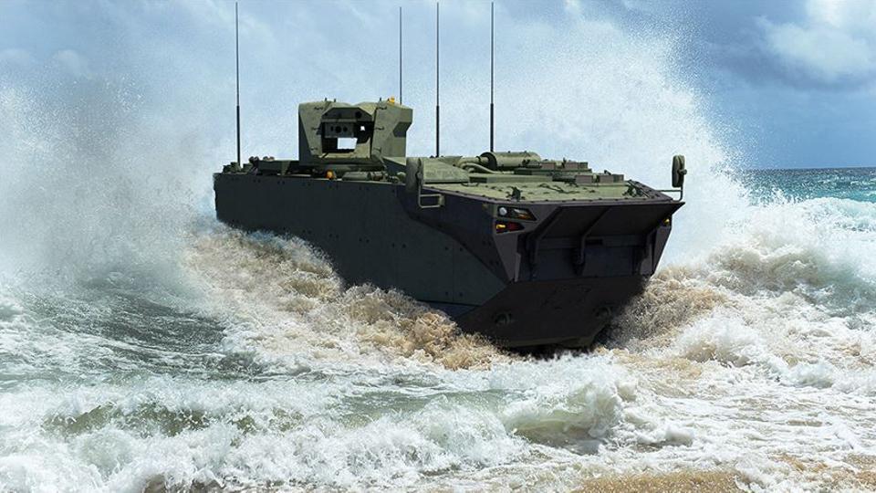 طُوّرت عربةZAHA البرمائية لسد احتياجات قوات مشاة البحرية البرمائية التركية