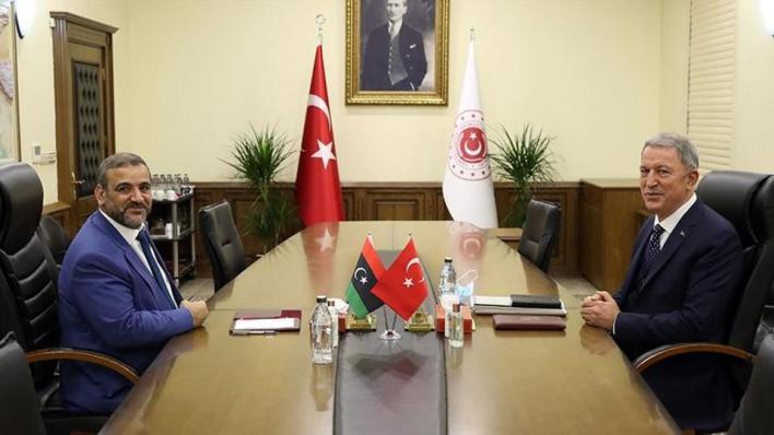 أقار والمشري يبحثان المستجدات الأخيرة في ليبيا بمقر وزارة الدفاع التركية في أنقرة