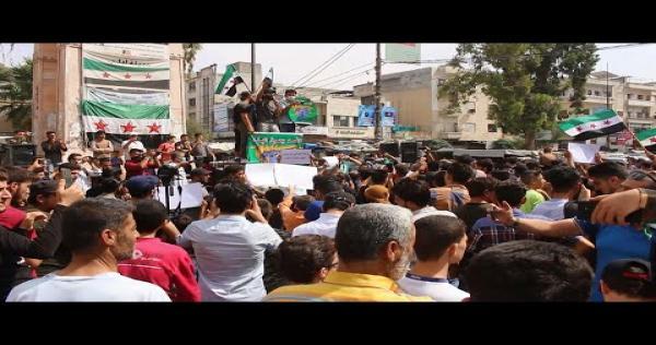 """kfTD2AYeOok - مظاهرة شعبية حاشدة وسط مدينة إدلب تحت عنوان """" الثورة ما ماتت """""""