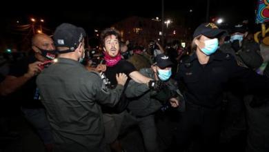 صورة الشرطة الإسرائيلية تقمع مظاهرات مناوئة لنتنياهو في تل أبيب