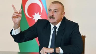 صورة الرئيس الأذربيجاني يحمّل أرمينيا مسؤولية ارتكاب جرائم ضد مدنيين