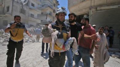 صورة الضربات الجوية الروسية والسورية على إدلب ترقى لجرائم حرب