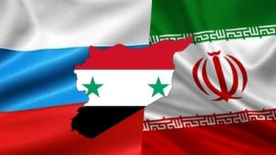 صورة لافرنتييف وحاجي يبحثان الوضع السوري في اجتماع طهران