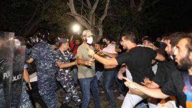 صورة لبنان.. متظاهرون من أصول أرمنية يعتدون على أفراد الأمن أمام سفارة تركيا