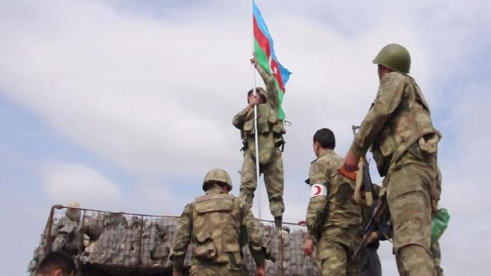 وزارة الدفاع التركية نقلاً عن مصادر أذربيجانية تعلن تحرير الجيش الأذربيجاني 22 منطقة سكنية حتى اليوم من الاحتلال الأرميني