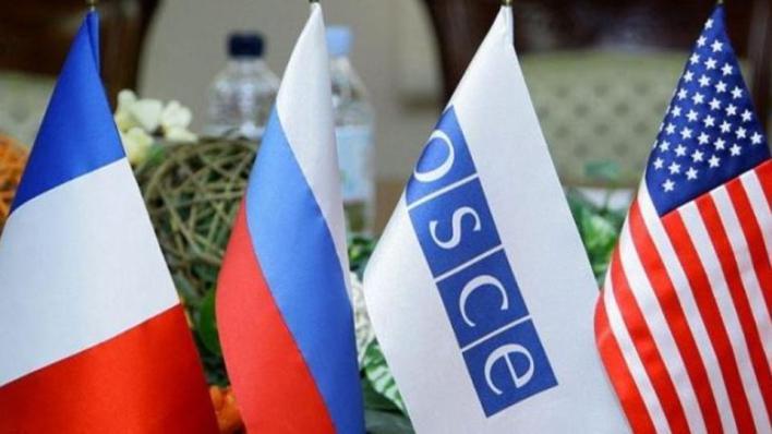 مجموعة مينسك المعنية بتسوية النزاع بين أذربيجان وأرمينيا تترأسها بشكل مشترك روسيا والولايات المتحدة وفرنسا