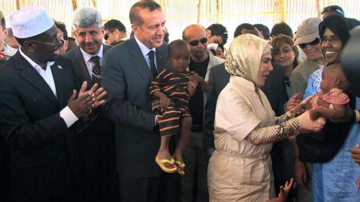 أردوغان زار الصومال عام 2011 لدعمها في مواجهة المجاعة