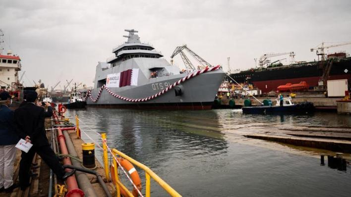 سفينة QTS91 الدوحة تعد واحدة من أكبر سفن التدريب العسكري بالعالم