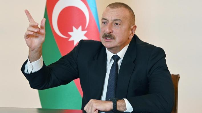 حمّل الرئيس الأذربيجاني أرمينيا مسؤولية الجرائم المرتكبة بحق المدنيين وتوعد بالرد المناسب عليها