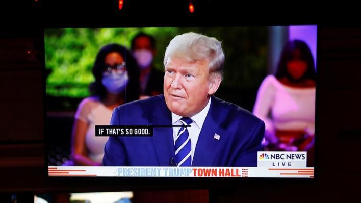 أجرى ترمب مقابلة على شبكة NBC التليفزيونية من ميامي في فلوريدا، بالتزامن مع مقابلة مماثلة أجراها منافسه الديمقراطي جو بايدن