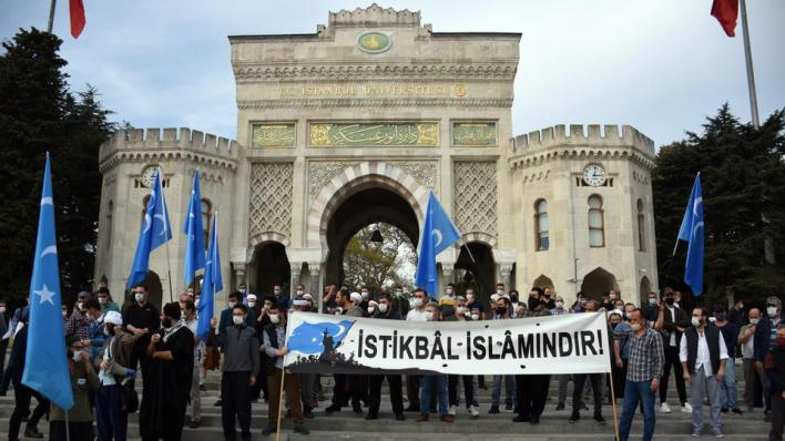 مظاهرة في مدينة إسطنبول التركية منددة بنشر رسوم مسيئة للنبي في فرنسا