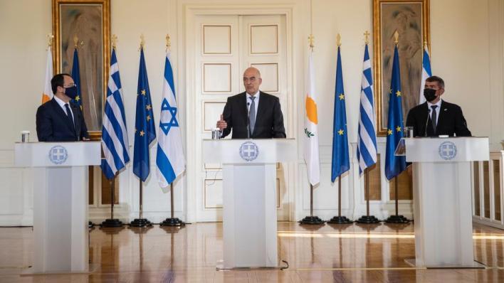 اجتماع ثلاثي بين إسرائيل واليونان وقبرص الرومية في أثينا لمناقشة تشكيل تحالف إقليمي