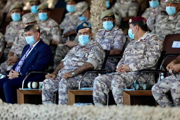 التمرين جرى بحضور رئيس أركان القوات المسلحة القطرية غانم بن شاهين الغانم، وسفير تركيا لدى الدوحة مصطفى كوكصو