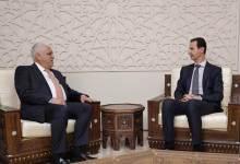 صورة مصادر إعلامية تكشف سبب زيارة قائد الحشد الشعبي العراقي بشار الأسد
