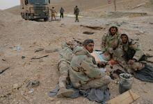 صورة قتلى وجرحى من قوات النظام بانفجار لغم في البادية السورية