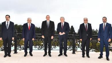 صورة علييف يعلن تحرير 8 قرى من الاحتلال الأرميني ويستقبل برلمانيين أتراكاً