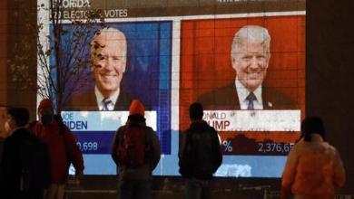 صورة الانتخابات الأمريكية.. 248 صوتاً لبايدن مقابل 214 لترمب مع استمرار الفرز