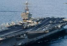 """صورة نشر حاملة طائرات أمريكية بالخليج والبحرية تقول لا صلة للأمر """"بتهديد معين"""""""