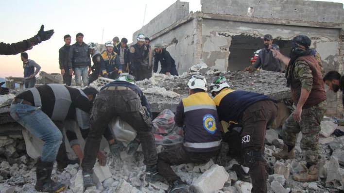 أصيب 13 مدنياً بجروح جراء القصف ونُقلوا إلى المستشفيات المحيطة