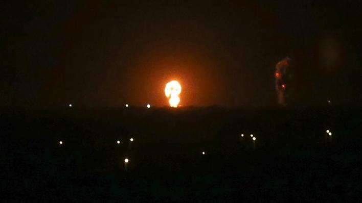 الغارات الإسرائيلية تستهدف مواقع تابعة لحركة حماس