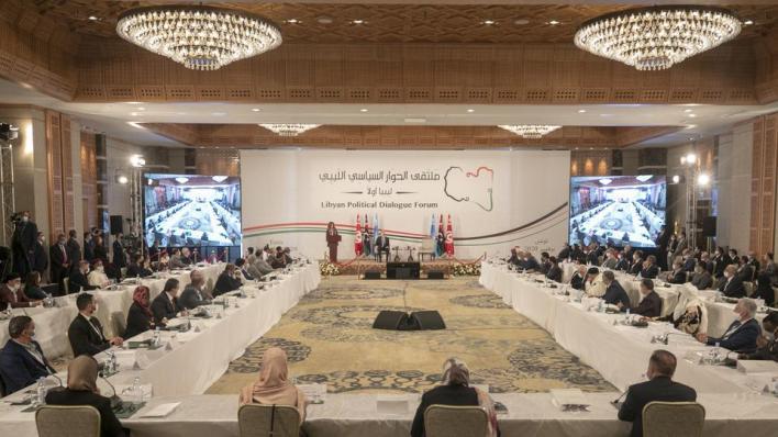 الاثنين، انطلقت مفاوضات ملتقى الحوار الليبي المباشر، في تونس، ومن المقرر أن تستمر حتى الأحد