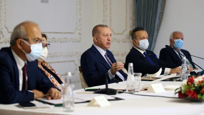 أردوغان خلال استقباله وفداً من مجلس المصدرين الخميس،