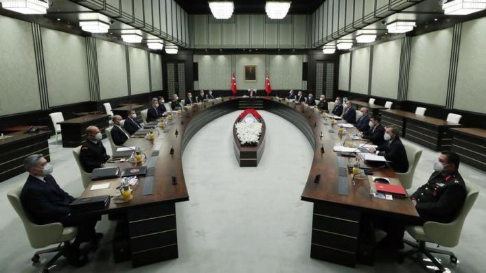 مجلس الأمن القومي التركي عقد اجتماعه الشهري في العاصمة أنقرة