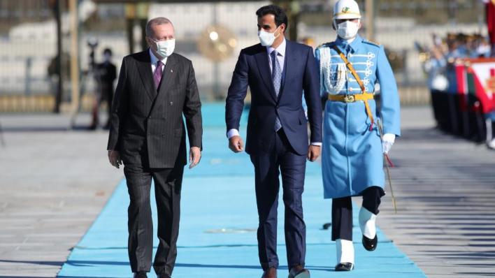 9631979 5122 2884 5 368 - أردوغان يستقبل أمير قطر في العاصمة أنقرة