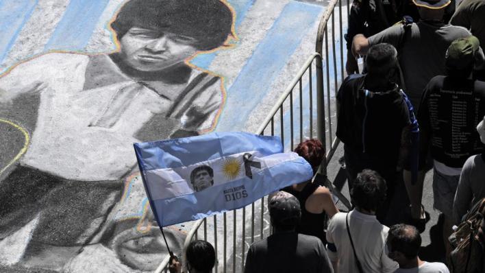 أعلنت الحكومة الحداد الوطني في البلاد لمدة 3 أيام على وفاة مارادونا