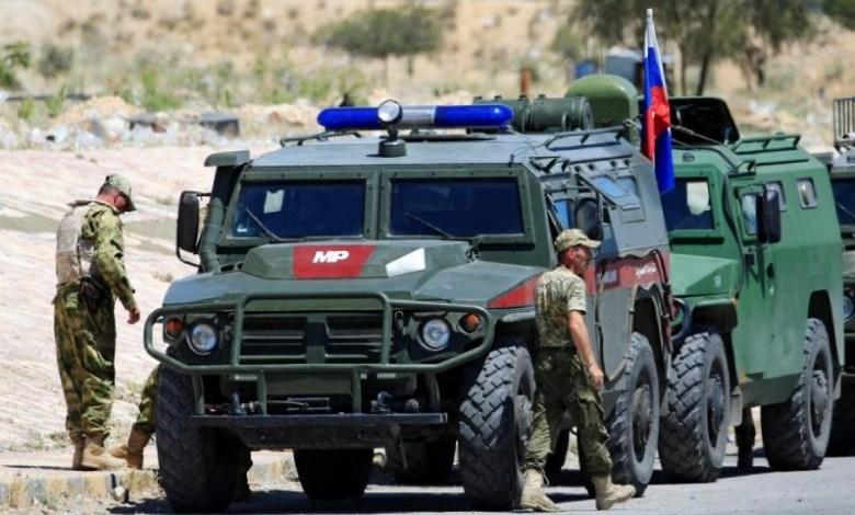 New Project 10 10 - انفجار عبوة ناسفة بعربة عسكرية روسية في ريف درعا