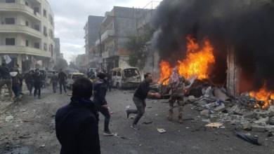 صورة تفجـ.ـيرين في ريف حلب الشمالي وعشرات القـ.ـتلى والجـ.ـرحى