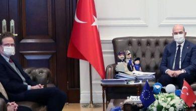"""صورة مباحثات بين """"سليمان صويلو""""و رئيس بعثة الاتحاد الأوروبي أوربية حول الهجرة"""
