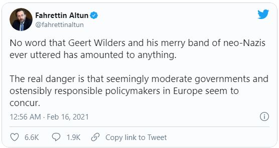 holand - أنقرة تقاضي زعيم حزب هولندي بسبب 'تغريدة مهينة' لأردوغان