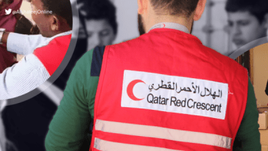 صورة إطلاق مشروع مساعدات للسوريين بدعم قطري