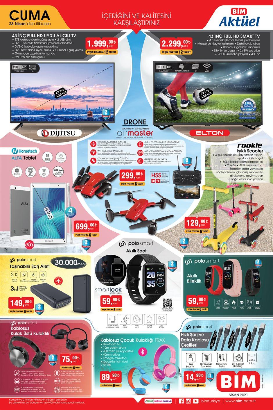 afis W3Y30JD4 150 23 nisan drone - العديد من الأجهزة الإلكترونية والعروض المميزة في متجر بيــم BİM يوم الجمعة 23.04.2021