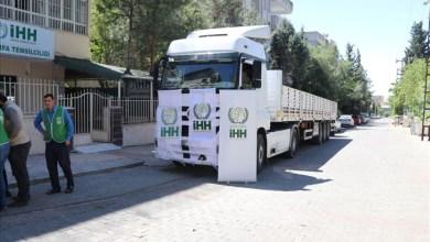 صورة شاهد.. تركيا تبعث بشاحنة إغاثة للداخل السوري