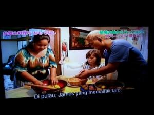 James - Felicia Memasak Makanan Tsis (Capturing image from Wakuwakujapan by Syaifuddin)
