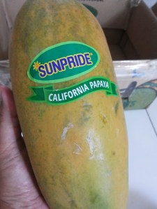 Pepaya California, Label Sunpride Jaminan Mutu (foto dokpri)